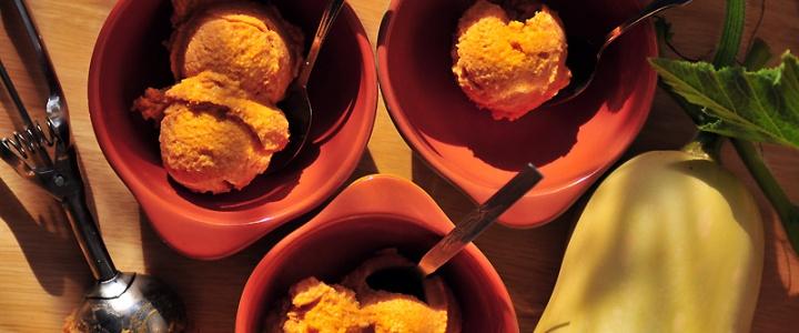 Butternutkürbis-Eis