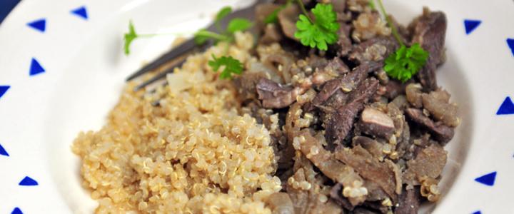 Lammherzgeschnetzeltes mit Quinoa