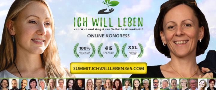 Einladung zum ICH WILL LEBEN Online Kongress 21.-29.11.20